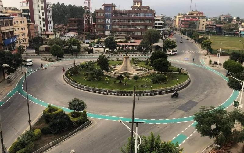 ललितपुर महानगरको सडकमा प्रष्ट देखियो साईकल लेन